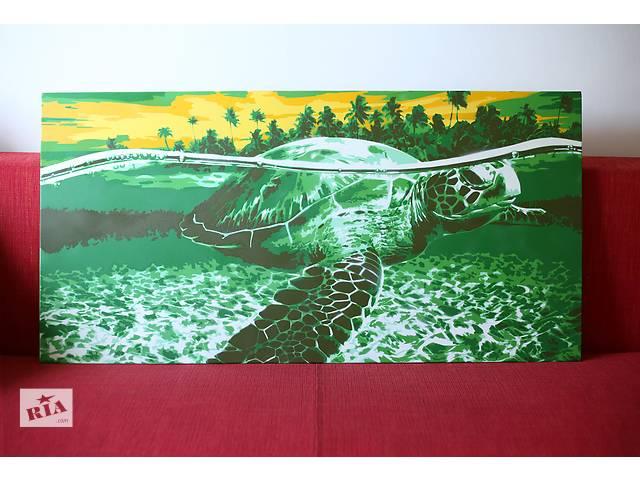 купить бу Картина в стиле Spray Art. Черепаха. в Киеве