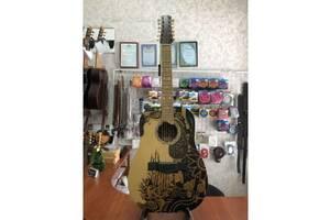 (2729) 12-ти струнная гитара с Росписью& laquo; Lion& raquo;