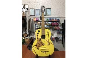 (4330) Гітара з Росписью& laquo; Yellow Wolf& raquo; Нові Колки та Струни