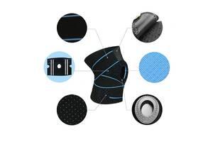 Бандаж для коленного сустава AOLIKES HX-7908 Black + Blue (4671-15020)