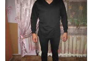 Білизна натільна чоловіча утеплене, 100% бавовна, в-во Узбекистан, розмір 54-56 чорне