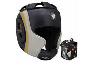 Боксерский шлем RDX Aura Golden (40280) L