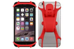 """Тримач для смартфона силіконовий BC-B711 універсальний 4""""-5,5"""" червоний"""