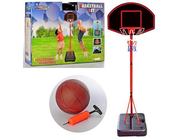 бу Детское баскетбольное кольцо MR 0327 на стойке складное в чемодан с мячом и насосом, высота 188 см в Дубно