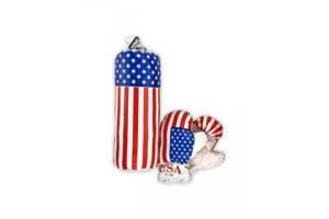 Детский боксерский набор груша и перчатки америка. Спортивный подарок ребенку