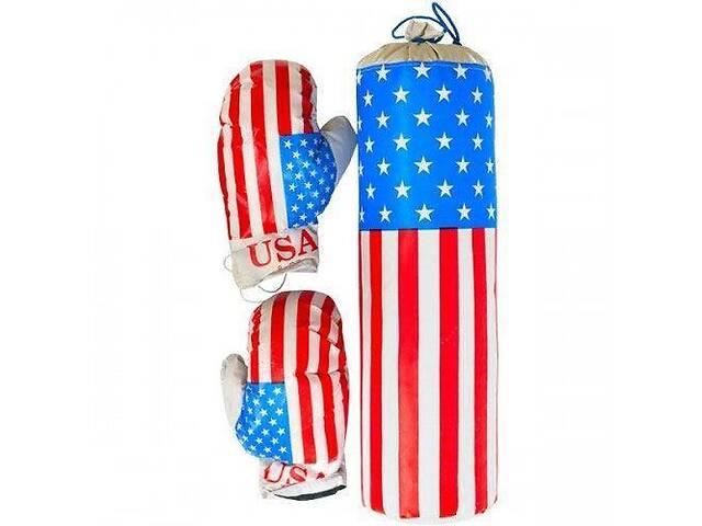 """Детский боксерский набор подвесной перчатки и груша кожзам Danko Toys """"Америка"""". Спортивный подарок детям- объявление о продаже  в Киеве"""