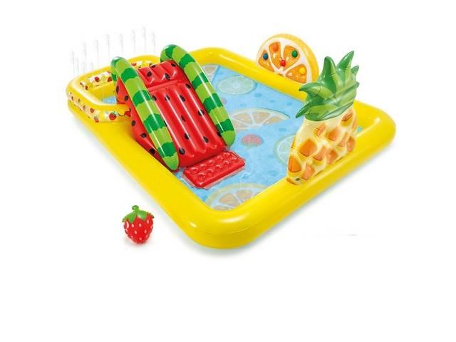 бу Детский надувной бассейн с горкой игровой центр Intex 57158 Веселые Фрукты (bint_57158) в Киеве
