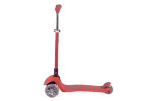 Самокат детский трехколесный от 3 лет складной со светящимися колесами Best Scooter Красный (89686)