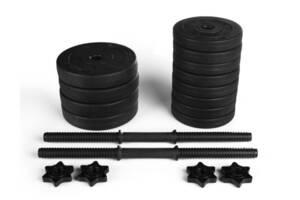 Две гантели разборные RN 11 кг с ABS  покрытием  + Эспандер и скакалка