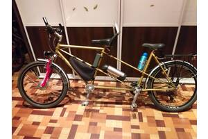 Электровелотандем. Электровелосипед для двоих.