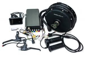 Электрический велонабор мотор-колесо 72В 5000Вт, 72В 80A синусоидный контроллер с беспроводным датчиком, цветной дисп...