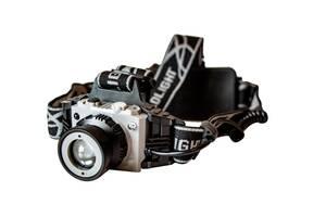 Самый яркий и мощный универсальный налобный LED фонарь на голову для рыбалки Headlight P-1005 аккумуляторный