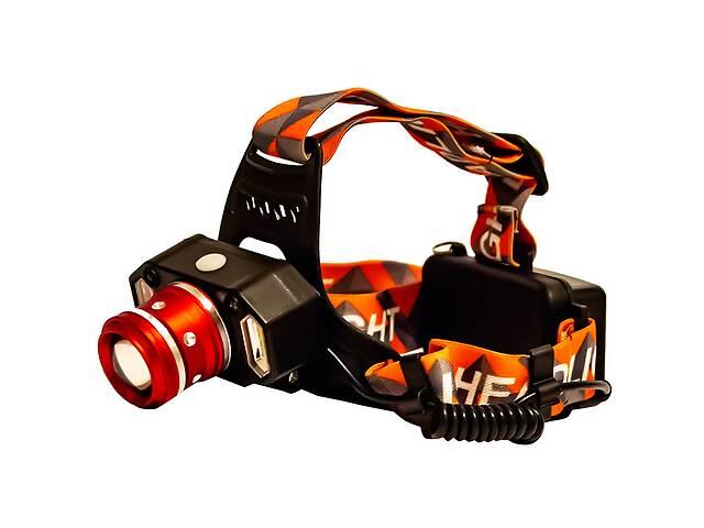 бу Фонарь налобный LED Headlight P-1008-T6 4 режима Orange в Харкові