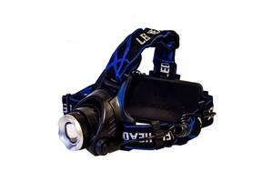 Самый яркий и мощный универсальный налобный LED фонарь на голову для рыбалки  Headlight Q19 аккумуляторный