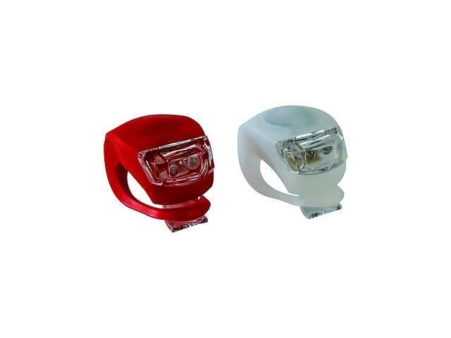 бу Фонарь велосипедный LED Light Set HJ008-2 Bike Light Red/White в Харкові