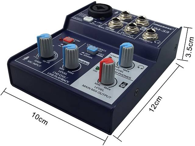 бу Freeboss UM-33 микшерный пульт 5v Usb звуковая карта аудиоинтерфейс в Днепре (Днепропетровск)