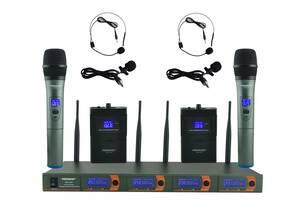 Гарнитура FREEBOSS FB-V04H2 Радиомикрофон Радиосистема петличный микрофон