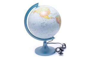 Глобус 250 политико-физический с подсветкой  (английский) 540210