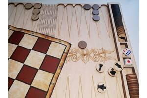 Игра 3 в 1 Шахматы, шашки, нарды. игра Домино