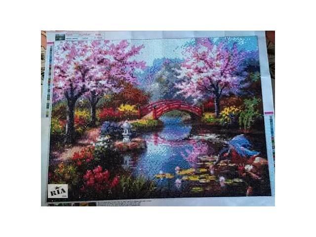 бу Картина «Ботанический сад» алмазная мозаика в Радехове