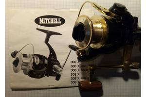 Катушка безынерционная Mitchell 308X Gold, 10 подшипников, Франция.