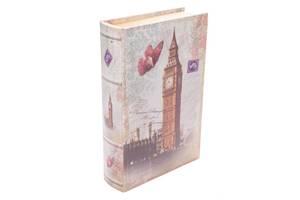 Книга сейф BST 490158 33×23×7 см разноцветная Лондон и бабочка