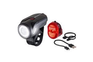 Комплект велосвітла Sigma Sport Aura 35 / Nugget II K-Set USB Чорний (SD17360)