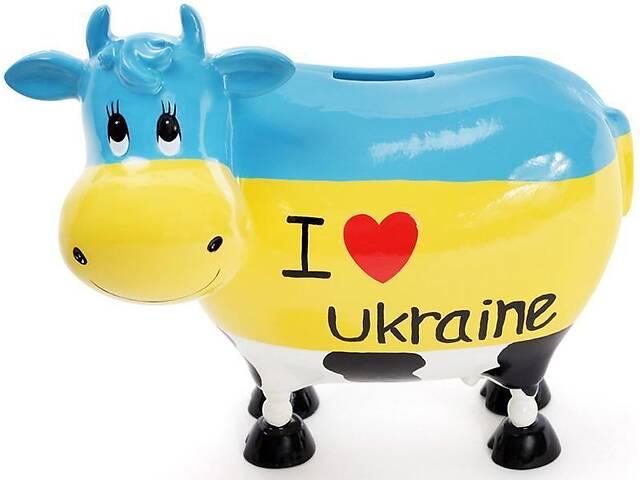 Скарбничка-корівка I love Ukraine 21.5х12.5х19 см керамічна (psg_BD-504-138)- объявление о продаже  в Києві