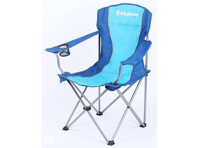 купить бу Кресло раскладное KingCamp Arms Chairin Steel KC3818 Blue, синий в Киеве