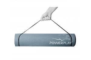 Килимок для йоги і фітнесу PowerPlay Сірий SKL24-291999