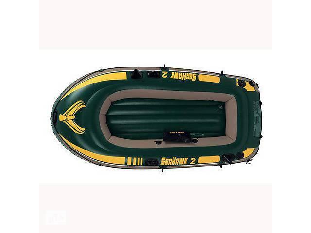 Лодка надувная Intex 68349 Seahawkна на 3 человека  Зеленый   (68349_int)