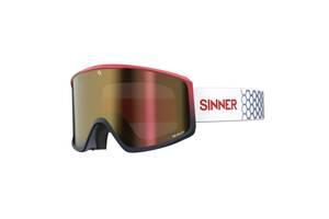 Маска гірськолижна Sinner Sin Valley Red Blue-Red Mir + Orange (SIGO-183-65-58)