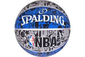 Мяч баскетбольный Spalding Nba Graffiti Outdoor серо-голубой Size 7 SKL41-249481
