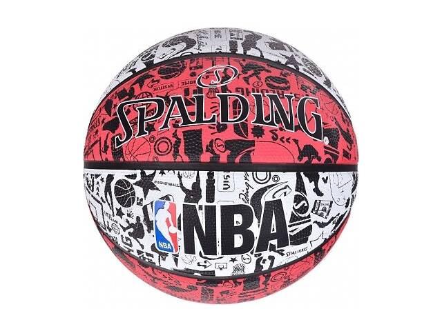 продам Мяч баскетбольный Spalding Nba Graffiti Outdoor серо-красный Size 7 SKL41-249480 бу в Харькове