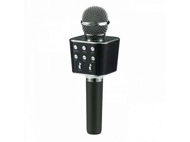 Микрофон караоке со встроенной колонкой Bluetooth FM, microSD, USB, AUX WSTER WS1688 Original Black (pst01126)- объявление о продаже  в Одессе