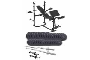 Набор со скамьей TrexSport TX-020 TITAN 165 кг