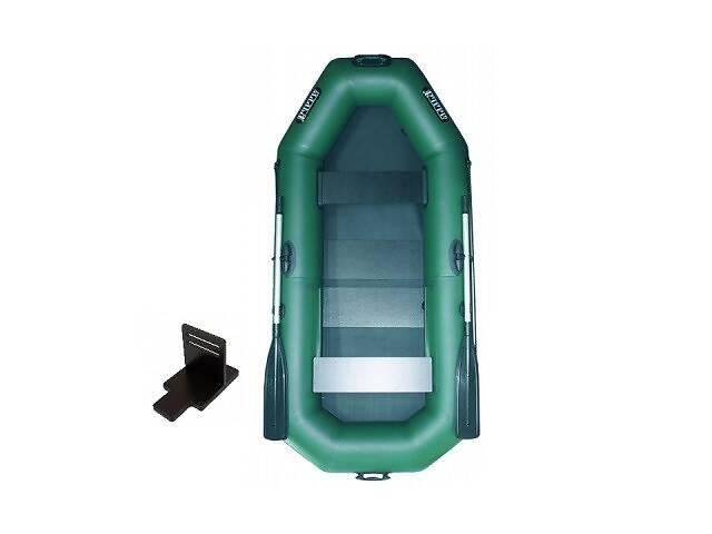 Надувная лодка Ладья ЛТ-250АЕСТ двухместная гребная с веслами и передвижным сиденьем 2.49 м навесной транец слань-ков...
