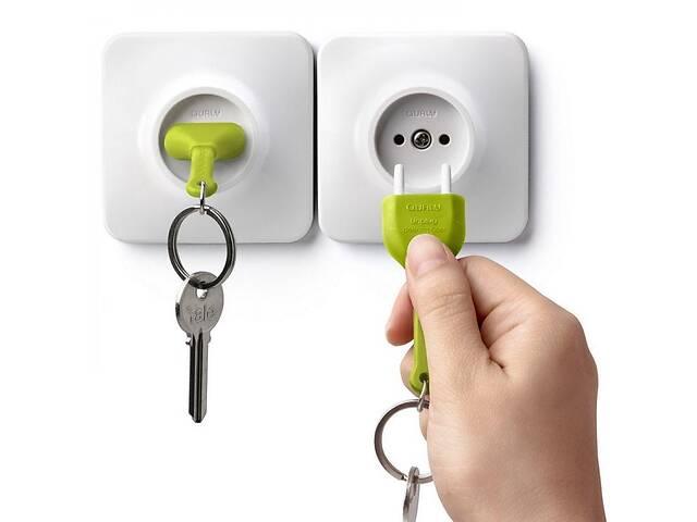 Настенная ключница с брелком для ключей Розетка бело-зеленая Таиланд 115144- объявление о продаже  в Киеве