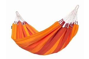 Одноместный гамак La Siesta Orquidea из хлопкажелто-оранжевый, нагрузка до 120 кг., без рейкиORH14-2