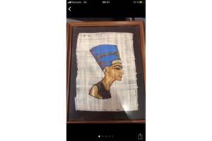 Папирус натуральный в деревянной раме