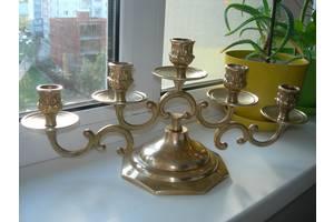 Подсвечник, на 5 свечей, 1,6 кг, бронза, Франция