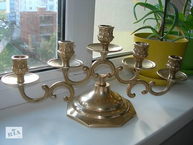 продам Подсвечник, на 5 свечей, 1,6 кг, бронза, Франция бу в Киеве
