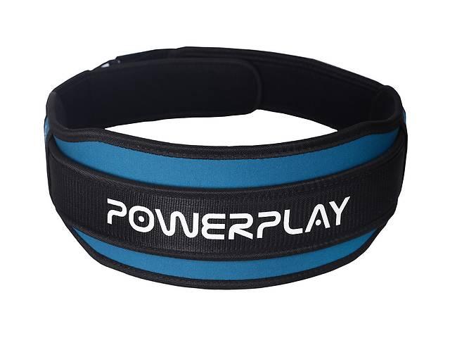 бу Пояс для тяжелой атлетики PowerPlay 5545 L Сине-черный (PP_5545_L_Blue) в Киеве