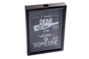 Рамка для винных пробок BST 250003 38х28х5,5 см. черная I only...