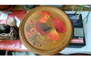 Расписная декоративная тарелка. Ручная роспись!