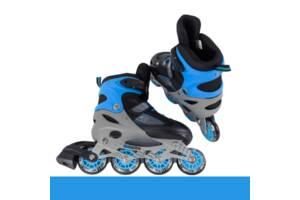 Ролики детские размер 30-33 от 18,5 см по стопе Best Roller Светящееся колесо Синие (98857)