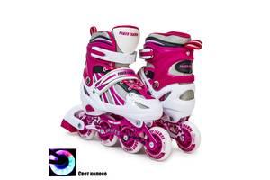 Ролики Power Champs Pink розмір 34-37