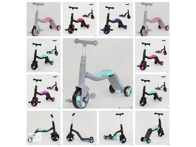 купить бу Самокат 3в1 Best Scooter, самокат-велобег-велосипед, свет, 8 мелодий, в Львове