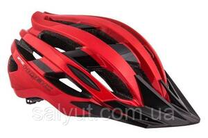 Шлем QBC Qintec, Красно-чёрный глянцевый
