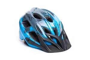 Шолом велосипедний OnRide Rider M Grey Blue SKL35-187974